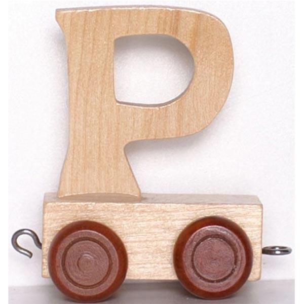 Lettre d corative en bois train lettre p la f e du jouet - Lettre decorative en bois ...