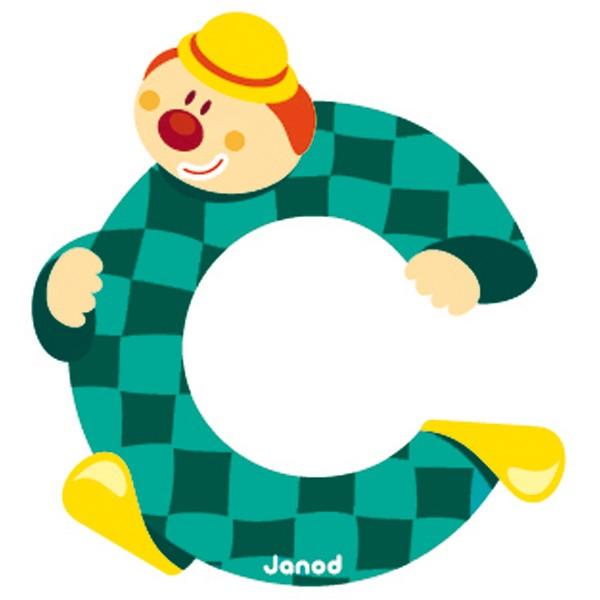 Lettre en bois clown janod c - Experte en composants 15 lettres ...
