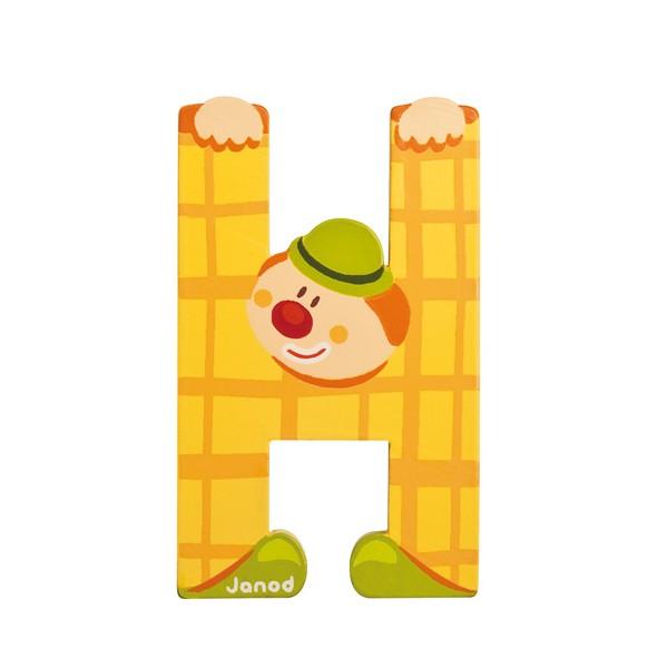 Lettre en bois clown janod h - Jouet alphabet ...