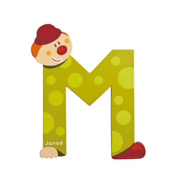 Lettre en bois clown janod m - K en majuscule ...