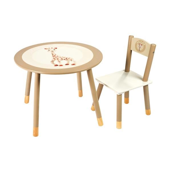 Table et chaise sophie la girafe janod 09531 la f e du jouet - Table d eveil sophie la girafe ...