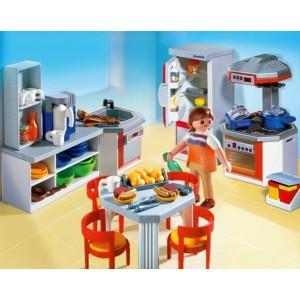 playmobil cuisine quip e 4283 la f e du jouet. Black Bedroom Furniture Sets. Home Design Ideas