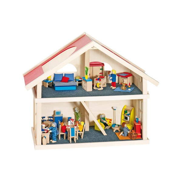 Maison de poupées 2 étages Goki J11198  la fée du jouet