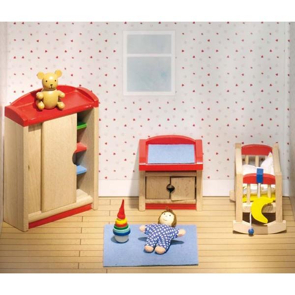 Maison de poupée Goki, chambre d'enfants - la fée du jouet