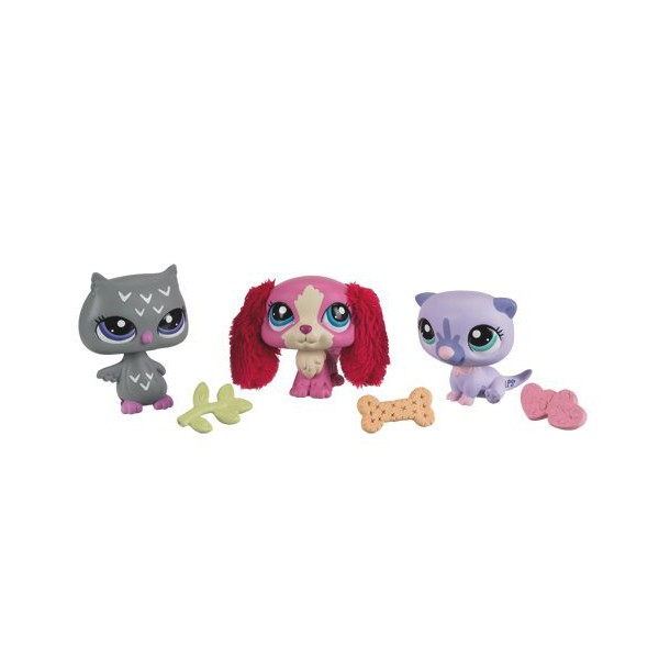petshop 3 figurines littlest petshop collectionner hasbro la f e du jouet. Black Bedroom Furniture Sets. Home Design Ideas