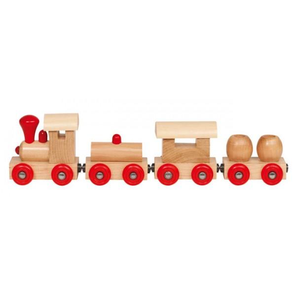 Train Kiew avec attaches magnétiques  train en bois Goki  ~ Train De Bois Jouet