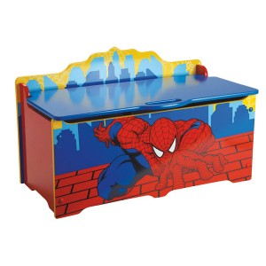 coffre jouets en bois spiderman meuble pour enfant. Black Bedroom Furniture Sets. Home Design Ideas