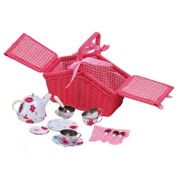 panier de pique nique vaisselle en m tal jouet pour fille la f e du jouet. Black Bedroom Furniture Sets. Home Design Ideas