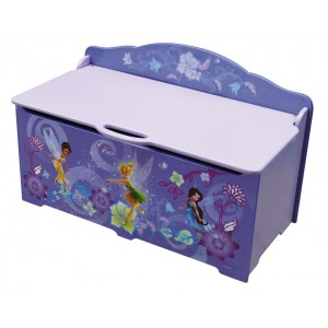 coffre jouets f e clochette disney fairies grand mod le. Black Bedroom Furniture Sets. Home Design Ideas