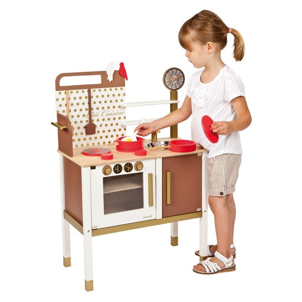 maxi cuisine chic janod la f e du jouet achat vente de jouets en bois. Black Bedroom Furniture Sets. Home Design Ideas