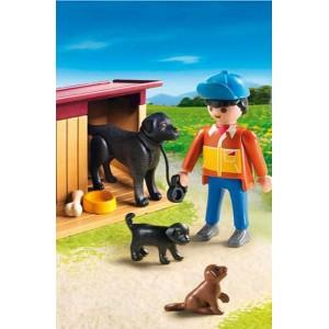 Chiens et fermier Playmobil 5125 - la fée du jouet