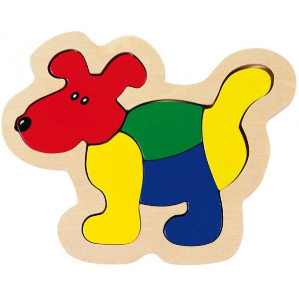 puzzle chien goki 5 pi ces puzzle pour b b la f e du. Black Bedroom Furniture Sets. Home Design Ideas