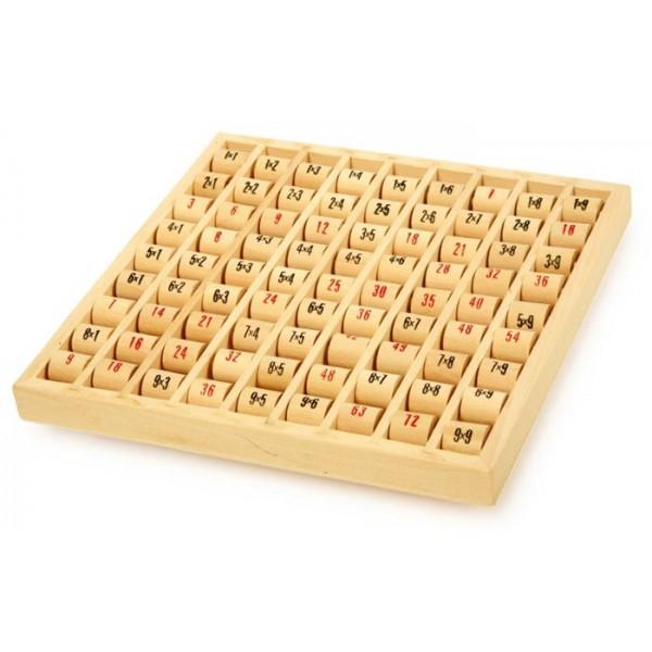 table de multiplication en bois la f 233 e du jouet jeu 233 ducatif