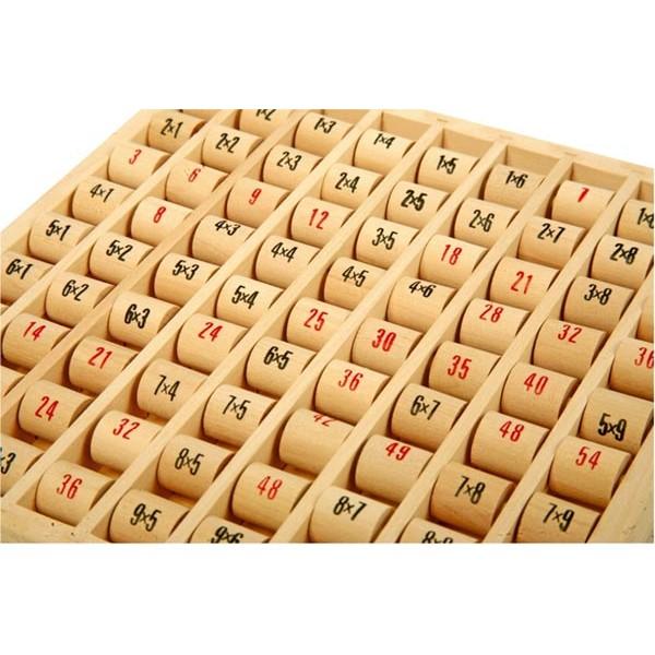 Jouet en bois table de multiplication - Jeu sur les tables de multiplication ...