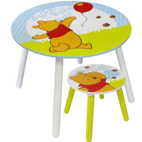 Table et tabouret winnie l 39 ourson mobilier disney la - Table et chaise winnie l ourson ...