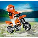 L'enfant et sa moto cross - Playmobil