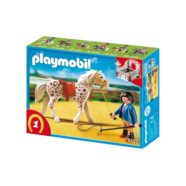 cheval playmobil et sa monitrice playmobil 5107