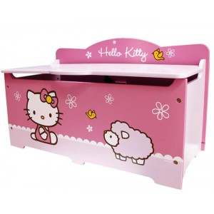 coffre jouets hello kitty grand mod le mobilier chambre d 39 enfant la f e du jouet. Black Bedroom Furniture Sets. Home Design Ideas