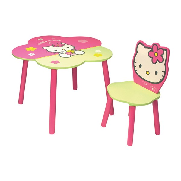 table et chaise hello kitty fleur mobilier hello kitty la f e du jouet. Black Bedroom Furniture Sets. Home Design Ideas
