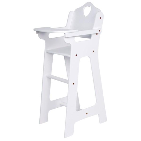chaise haute pour poup e tablette rabattable la f e du jouet achat jeux et jouets en bois. Black Bedroom Furniture Sets. Home Design Ideas