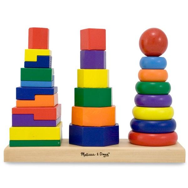 Formes g om triques empiler la f e du jouet achat for Jouet exterieur 2 ans