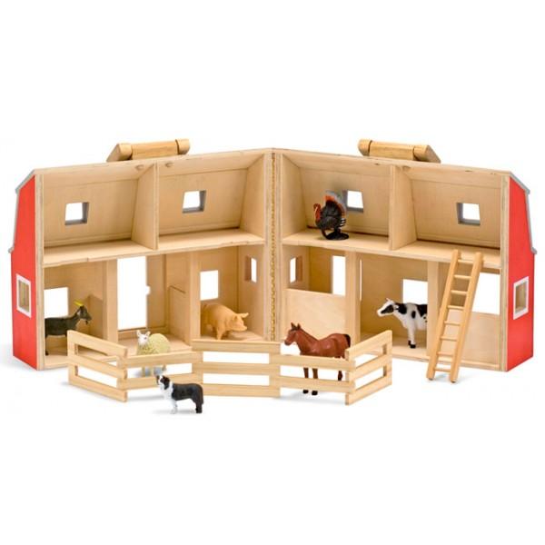 ferme en bois avec animaux la f e du jouet achat jeux et jouets d 39 imitation. Black Bedroom Furniture Sets. Home Design Ideas