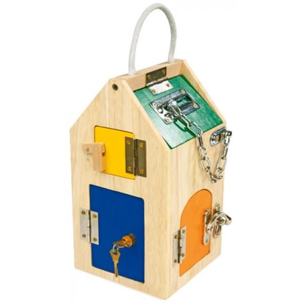 maison serrures en bois la f e du jouet achat vente jeux et jouets ducatifs pour enfants. Black Bedroom Furniture Sets. Home Design Ideas