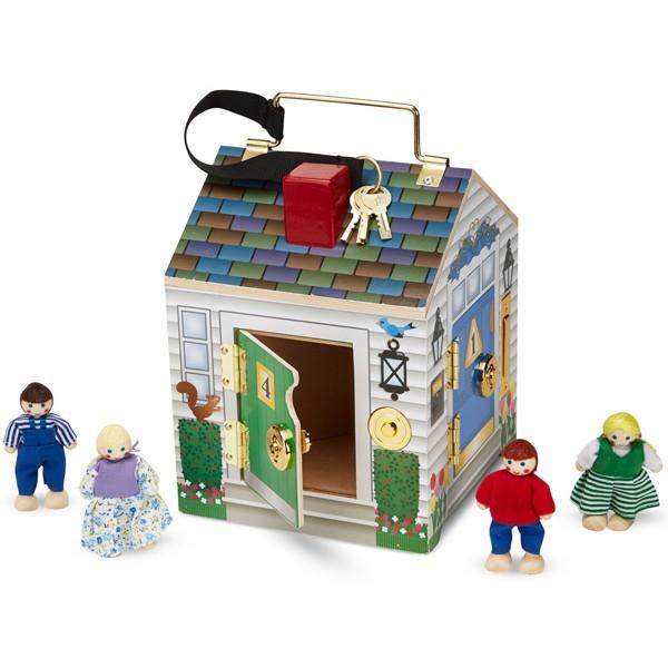 maison serrures avec sonnettes la f e du jouet vente de jeux et jouets en bois. Black Bedroom Furniture Sets. Home Design Ideas