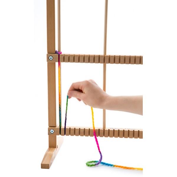 m tier tisser en bois grand format la f e du jouet id es cadeaux et jouet en bois pas cher. Black Bedroom Furniture Sets. Home Design Ideas